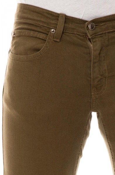 5f18cb78fa5 RUSTIC DIME - SLIM FIT DENIM - olive tmavě zelená pánské kalhoty