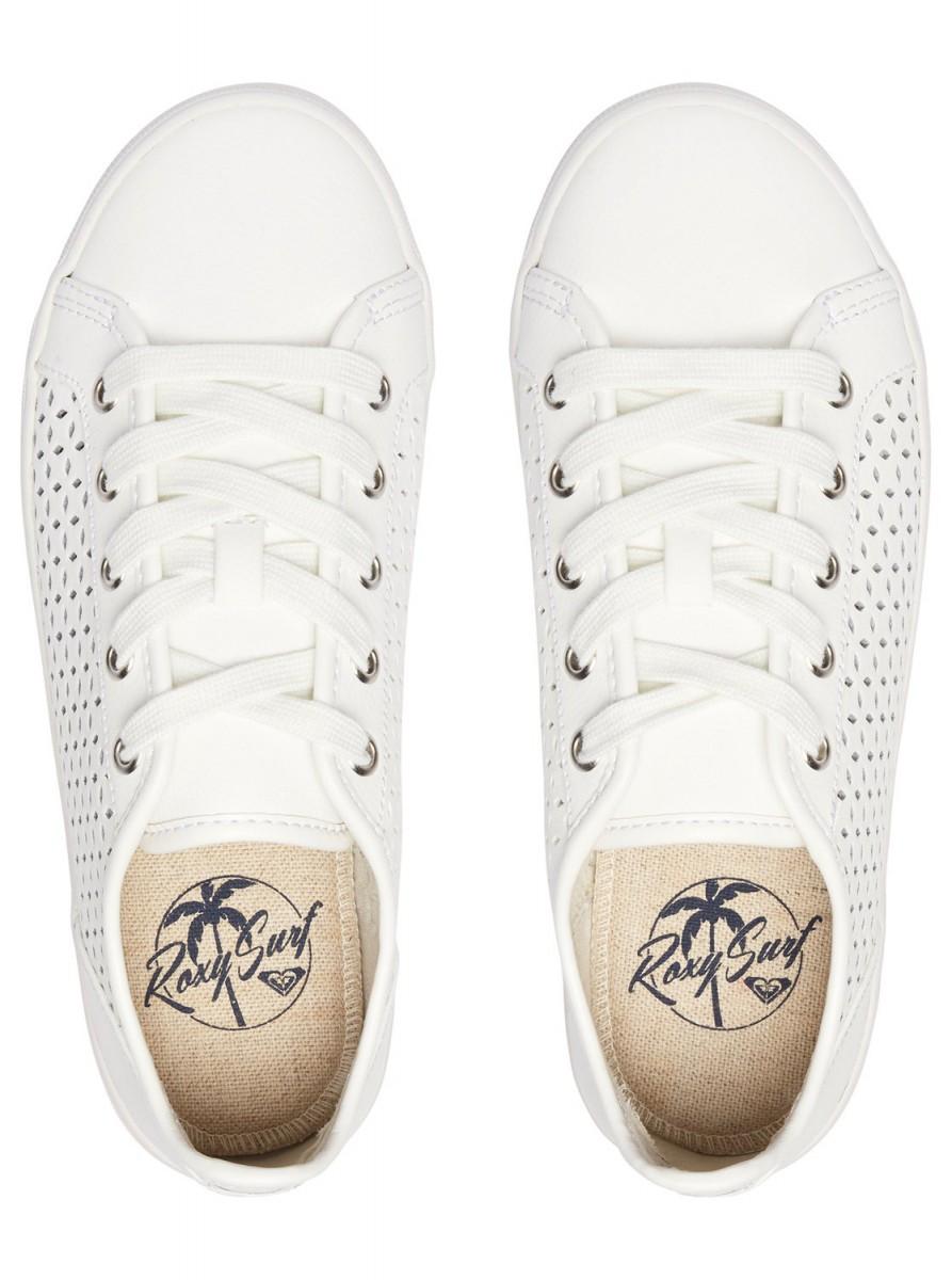 bb9094807e4 Roxy Callie Lace Up bílé boty